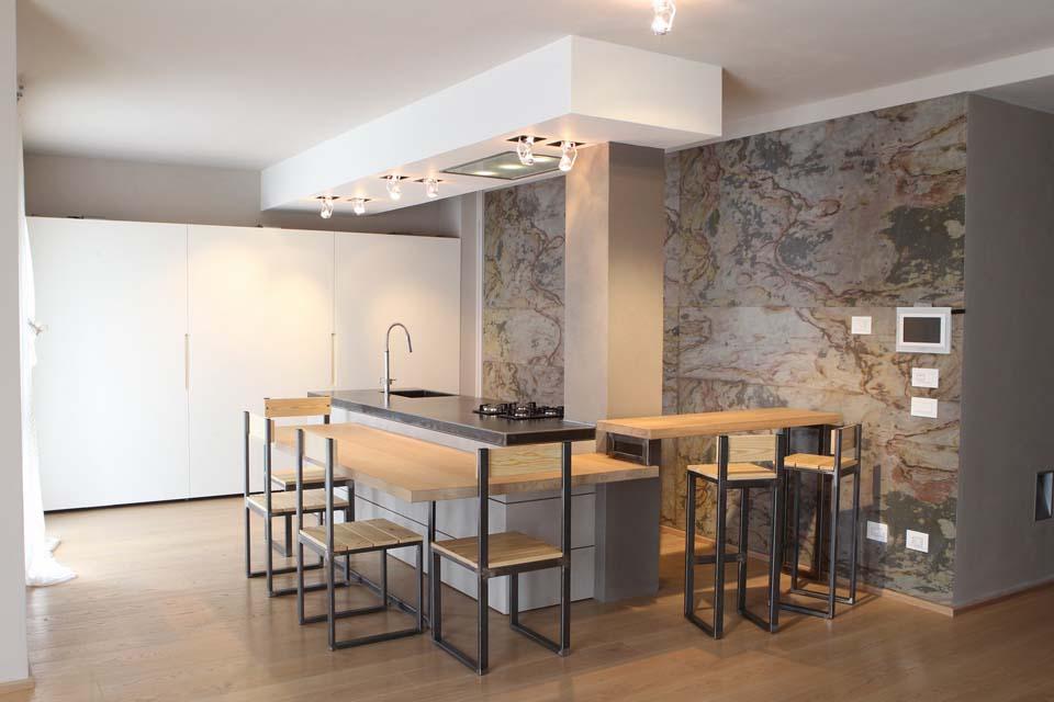 Cucina legno acciaio - La bottega del falegnameLa bottega del falegname