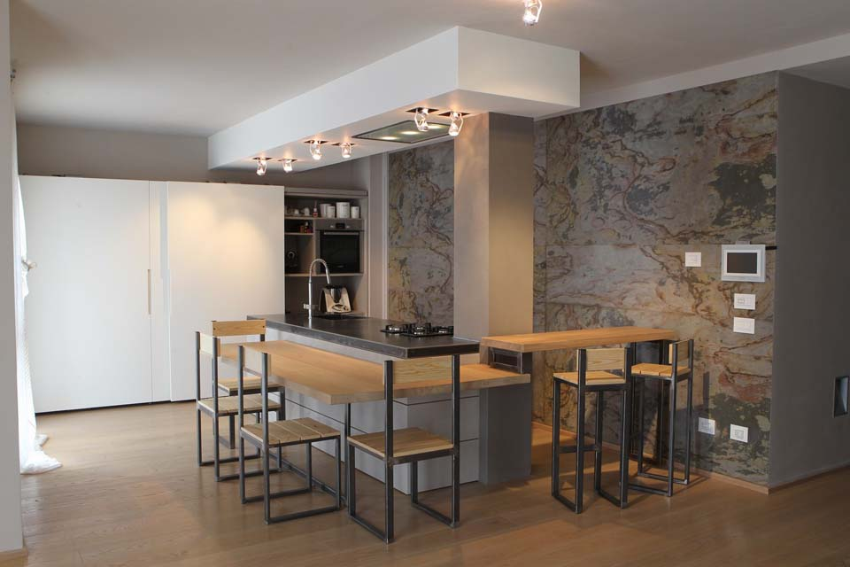 Cucina legno acciaio la bottega del falegnamela bottega - Cucina falegname ...